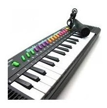Teclado Piano Musical Infantil Sons Eletronicos + Microfone