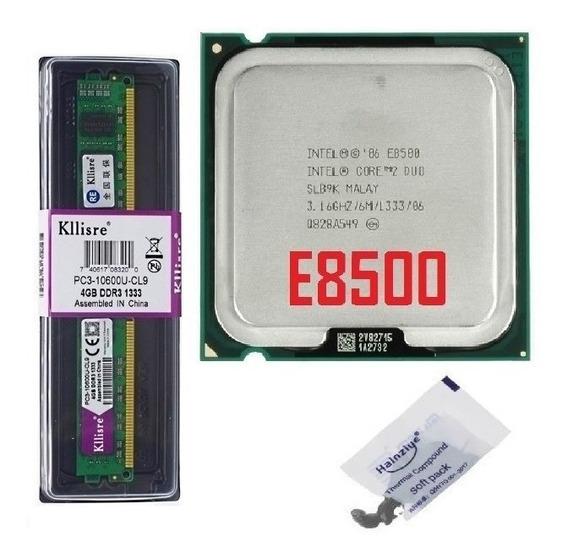 Kit Memória Ddr3 4gb 1333mhz + Cpu Core 2 Duo E8500 3 Ghz
