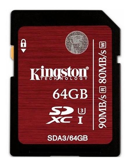 Cartão Memória Kingston 64gb Sdhc/sdxc Uhs-i U3