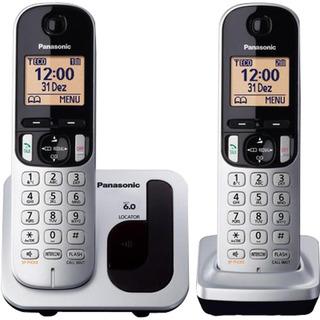 Telefone Panasonic Tgc212lb1 Bloqueador De Chamadas 2 Ramais