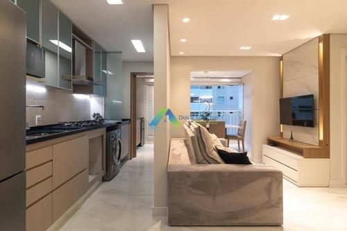 Apartamento Designer Moderno , 63 Metros, 2 Dormitórios Sendo 1 Suíte, 2 Vagas Com Excelente Localização E Valor ! - Ap5162