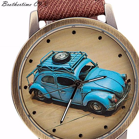Relógio De Pulso Unissex - Fusca Com Caixa Presenteavel