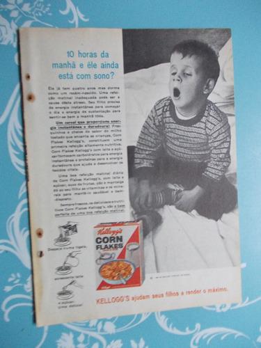 Propaganda Vintage - Kellogg´s Corn Flakes..10 Horas Da..