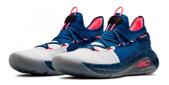 Zapatillas Basket Under Armour Curry 6 Blue + Obsequio