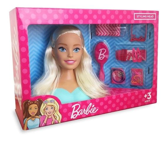 Barbie Busto Original Pupee Para Pentear Com 21 Acessórios