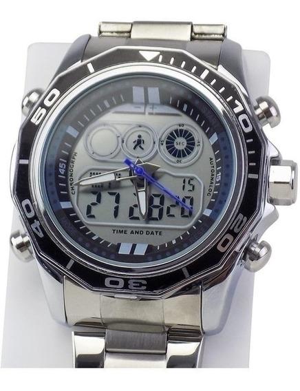 Relógio Masculino Original Aço Barato Esporte De Pulso