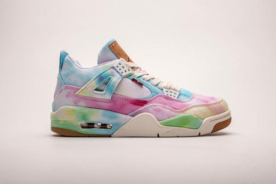 Tenis Nike X Levis Air Jordan 4 Retro Multi-color