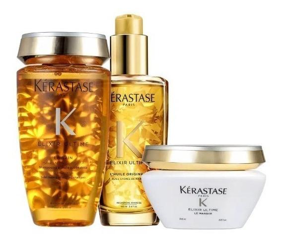 Kit Kérastase Elixir Ultime Masque Originale (3 Produtos)
