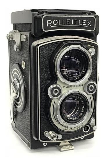 Câmera Rolleiflex 6x6 Tessar 1:3.5/75mm.(para Coleção)