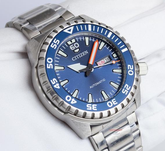 Relógio Citizen Automático Marine Sport Nh8389-88l Azul