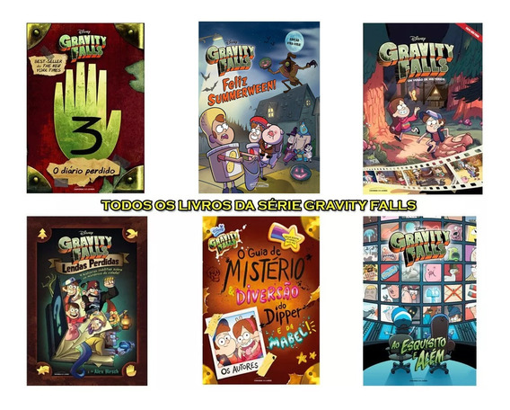 Coleção 6 Livros Capa Dura Gravity Falls / Dipper Promoção