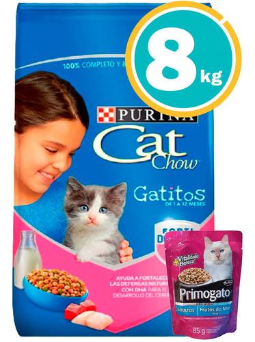 Comida Cat Chow Gatitos 8 C/ Salsa  Envío S/cargo