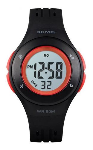Relógio Infantil Skmei Digital 1455 Preto E Vermelho