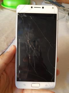 Smartphone Asus Zenfone 4maxx Tela Quebrada.
