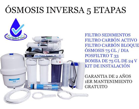 Ósmosis Inversa 5 Etapas