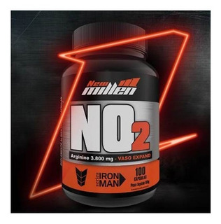 No2 Vaso Dilatador 100caps New Millen/ Arginine 3.800mg