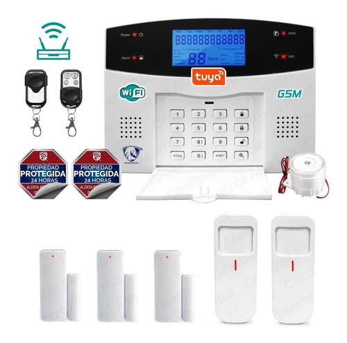 Imagen 1 de 10 de Wifi Kit 9 Alarma Gsm Alerta Inalambrica Seguridad Plus Casa