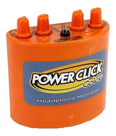 Amplificador De Fone Power Click Color Laranja (2 Canais)