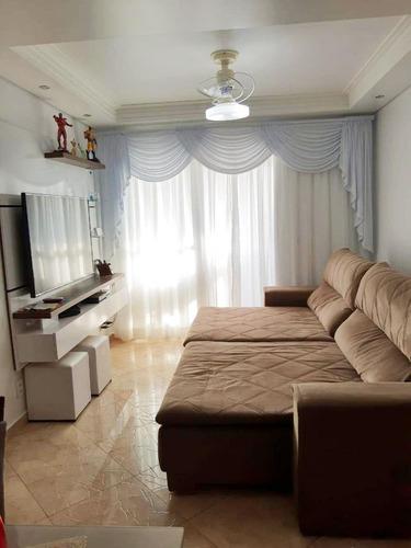 Apartamento Em Vila Bocaina, Mauá/sp De 91m² 3 Quartos À Venda Por R$ 480.000,00 - Ap919049