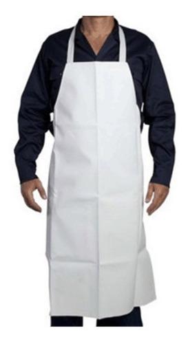 Delantal Industrial Blanco Impermeable Mandil Trabajo Cocina