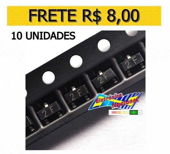 Transistor 2f Mmbt2907a 0.6a/40v Pnp G Sot-23 - 10 Unidades