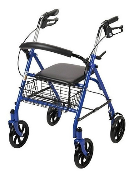 Andador Drive Medical Adulto Con Asiento Freno Azul