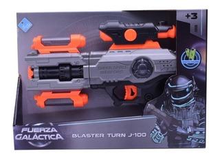 Pistola Espacial Blaster Turn J-100 Luz Y Sonido Lny 7215