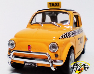 Miniatura Fiat Nuova 500 Taxi 1:36 (raridade)