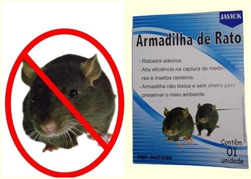 Armadilha De Rato Ratoeira Papel Adesivo 5 Unidades