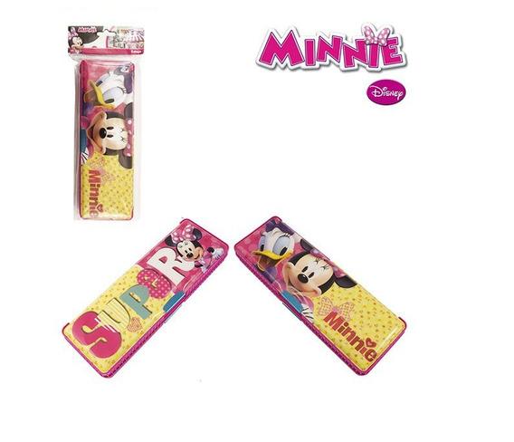 Estojo Escolar Retangular Com Duas Divisórias Minnie