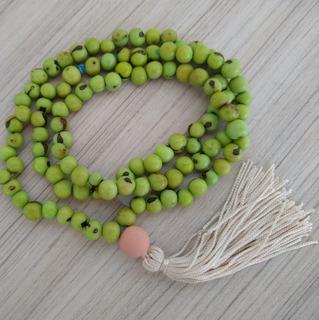 Japamala Com Semente De Açaí Verde 108 Contas Ref: 9290