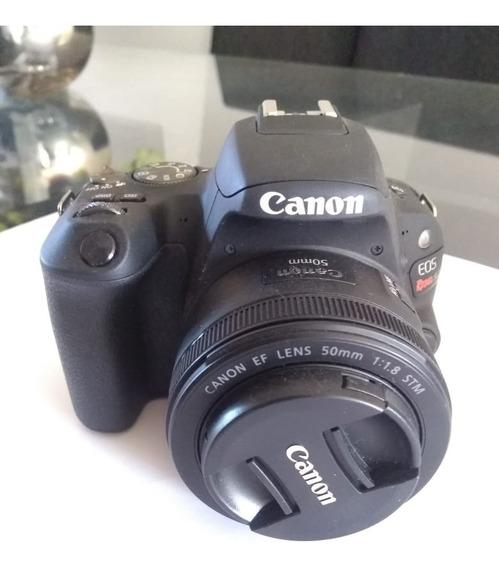 Câmera Canon Sl2 Com Kit Lente Ef-s 18-55 Is Stm + Ef 50mm