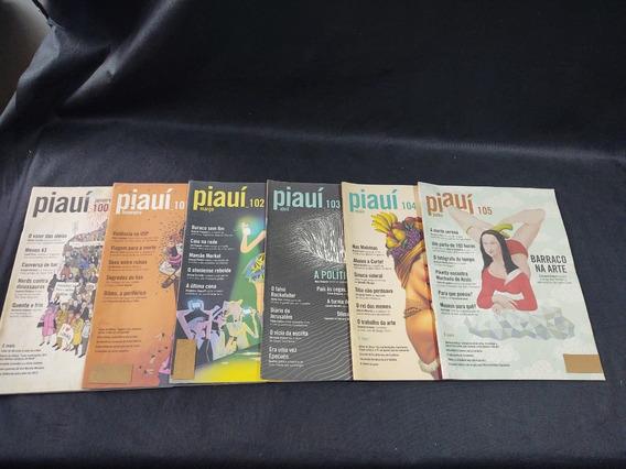 Coleção 12 Revistas Piaui Ano 10 Janeiro 100 A Dezembro 111