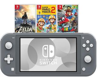Nintendo Switch Lite Grey + 3 Juegos Fisicos + Regalo. Nueva
