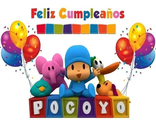Kit Pocoyo Fiesta Cumpleaños Piñata X 24 Invitados +obsequio