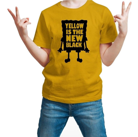 Playera Bob Esponja Spongebob New Black Niño 1 Pza