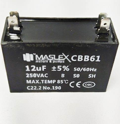 Capacitor Marcha Cuadrado 12 15 250v Con Terminales Nevera
