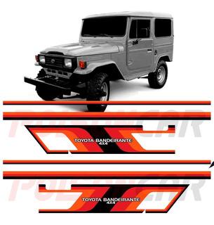 Kit Faixa Lateral Adesiva Toyota Bandeirante Com Carroceria