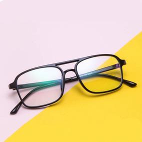 e93768ab7 Armação De Óculos Quadrada Masculina Feminina Grau Acetato