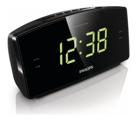 Rádio Relógio Despertador Philips Original