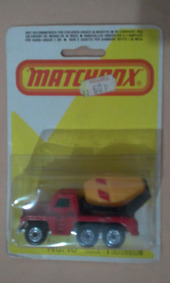 Matchbox Lesney England N 19 Ciment Truck Blister 1/64