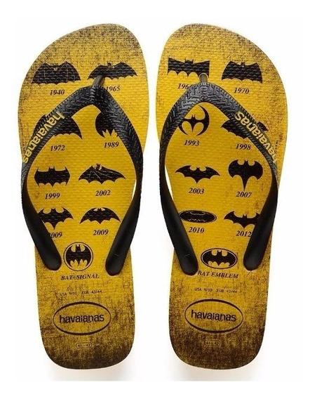Chinelo Havaianas 10/2017 Batman Amarelo Banana