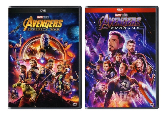 Avengers Infinity War + Endgame Paquete Peliculas Dvd