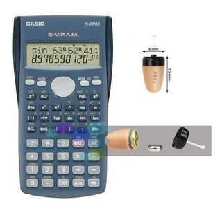 Calculadora Audifono Espia Gsm Con Microfono Y Mini Audifono