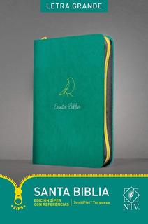 Biblia Nueva Traducción Viviente Cierre Letra Grande Verde