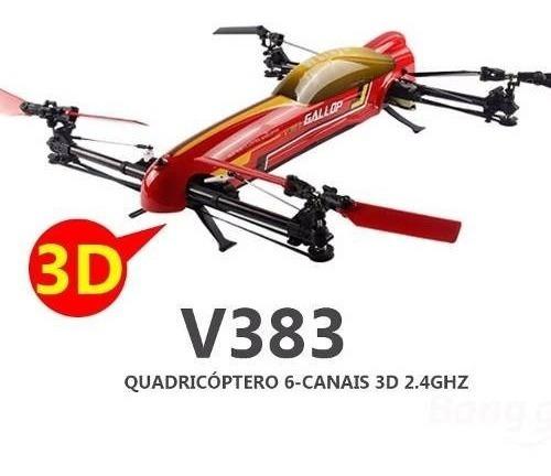 Quadricóptero 3d Wltoys V383 500 2.4ghz 6ch - 12 X Sem Juros