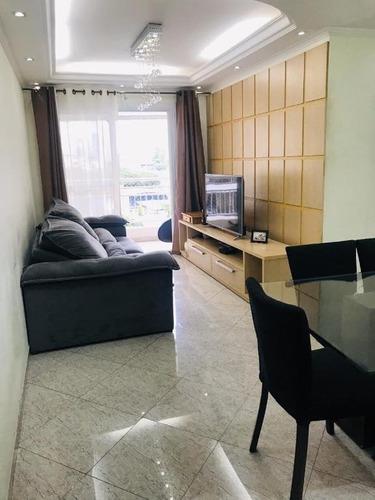 Apartamento Com 3 Dormitórios À Venda, 74 M² Por R$ 695.000,00 - Tatuapé - São Paulo/sp - Ap7131