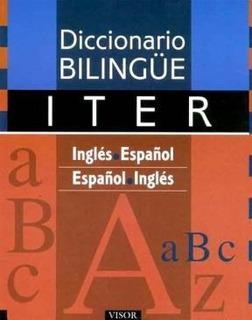 Libro Diccionario Iter Ingles - Espa¤ol Espa¤ol - Ingles