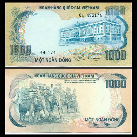 Vietnã Do Sul 1000 Dong 1972 P. 34 Fe Cédula - Tchequito