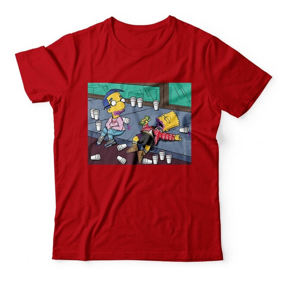 Camisa Camiseta Masculina Bart Crazzy Copo Lean Simpson Top